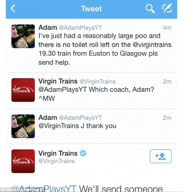 Virgin_Trains canal de apoio ao cliente