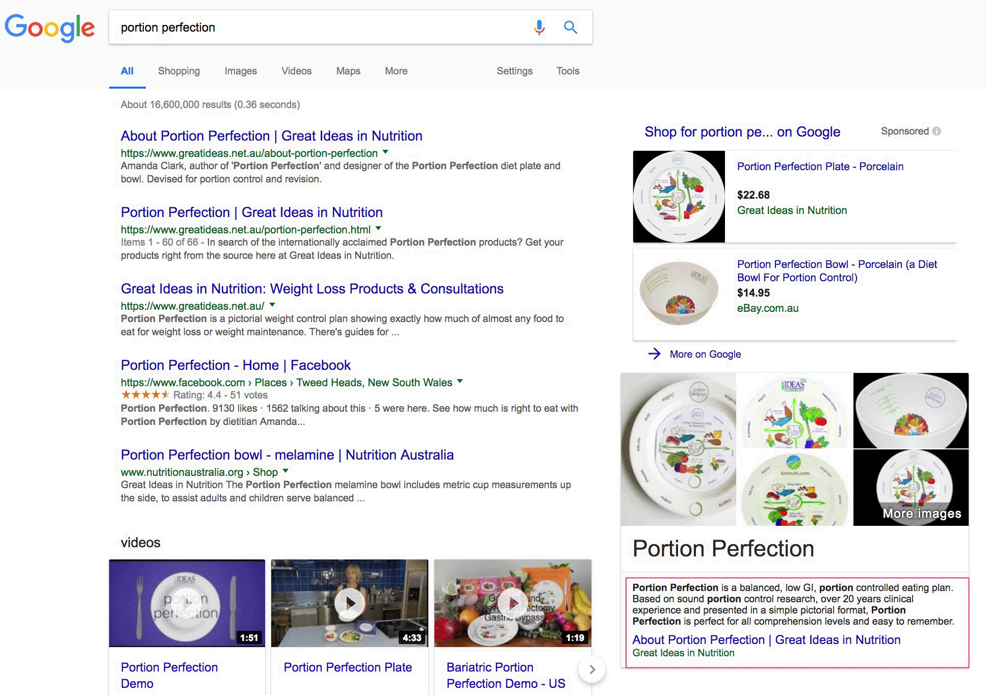 Featured Snippet Right Sidebar Google